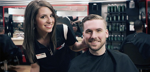 Sport Clips Haircuts of Midland stylist hair cut